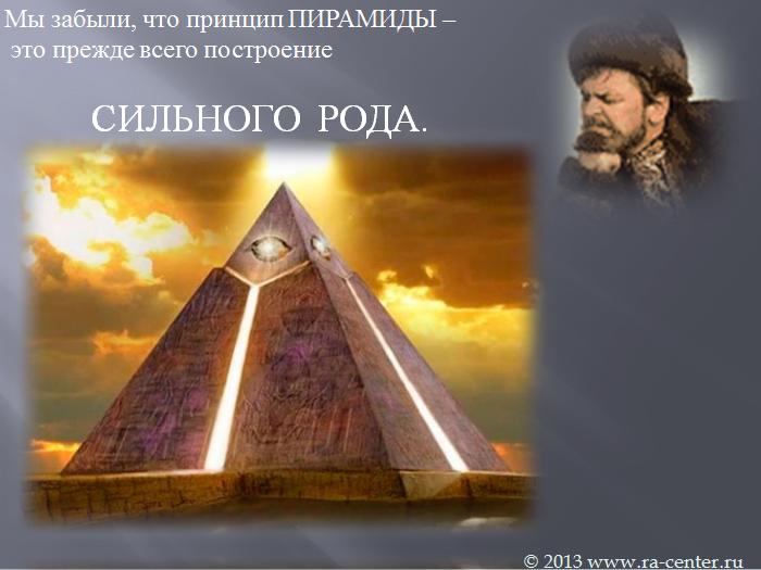 Пирамида – это принцип построения нашего общества во всем, сетевые компании, управление бизнесом, коллективом, страной.