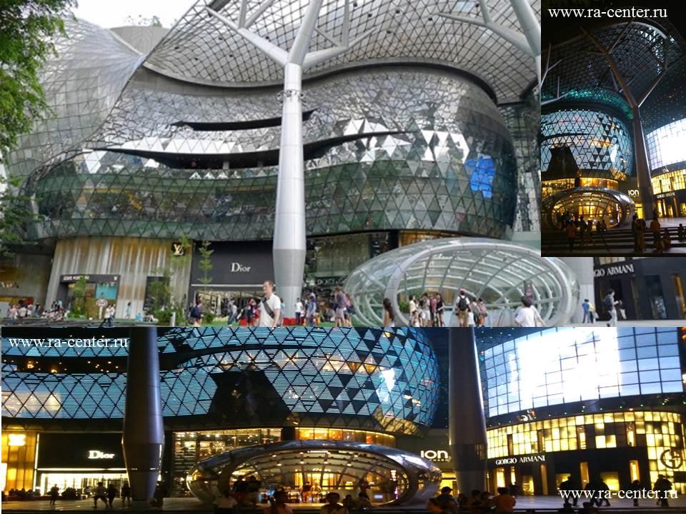 В Сингапуре, где фонтаны вы можете наблюдать  возле каждой гостиницы, на  стенах домов, лестницах, так же используется  реклама